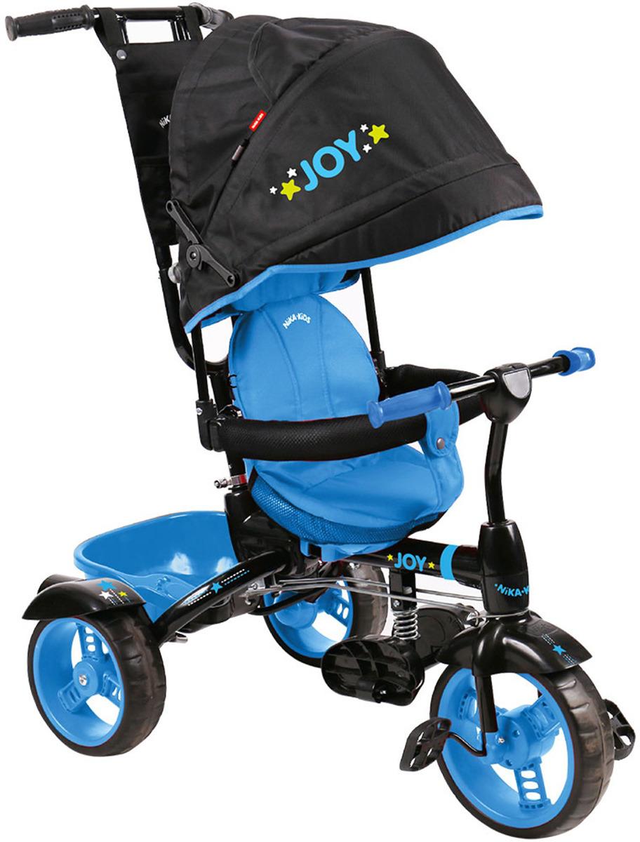 Велосипед трехколесный детский Nika Kids ВД4, 3554532, черный, голубой