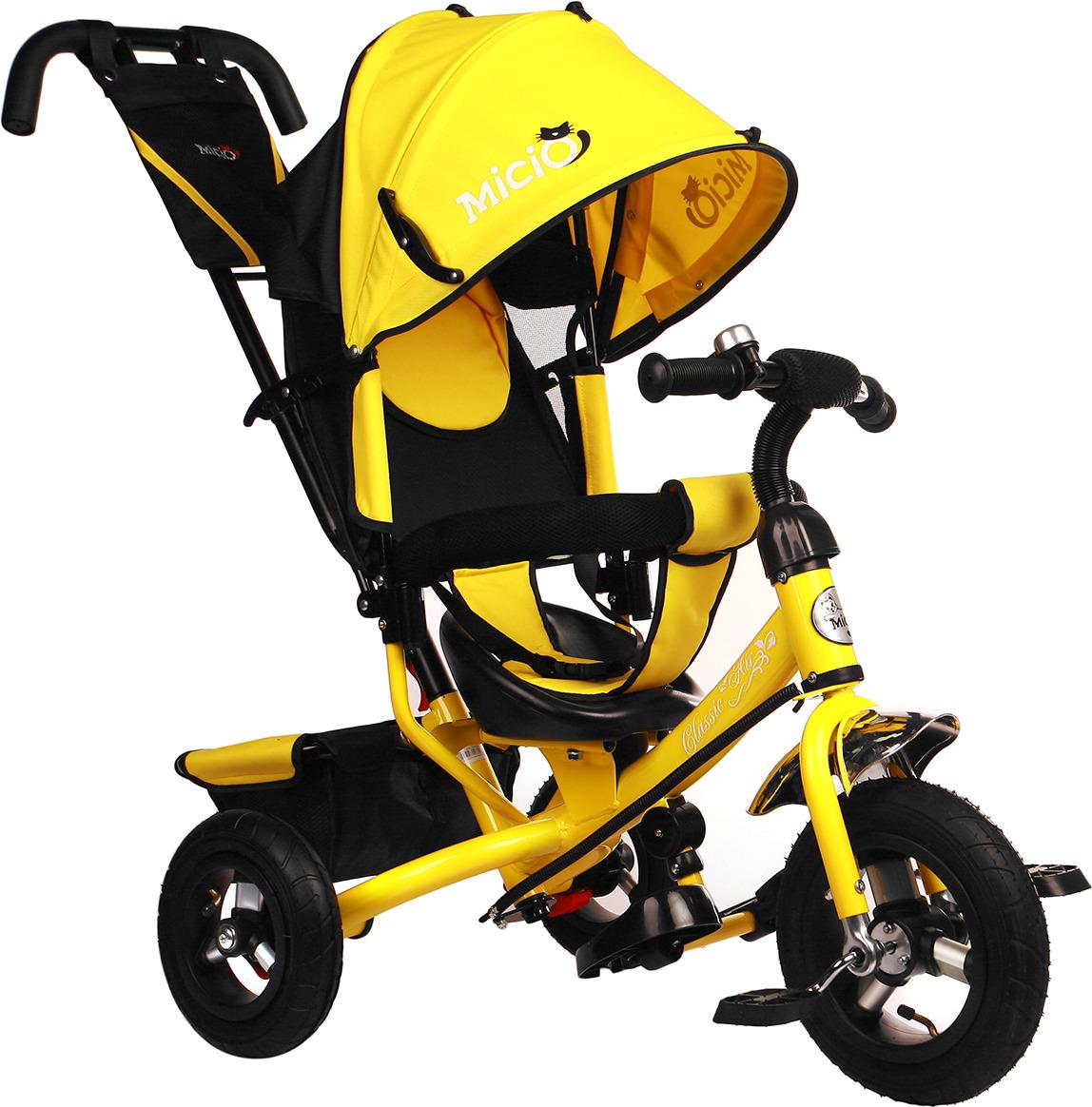 Велосипед трехколесный детский Micio Classic Air 2019, 3871488, желтый