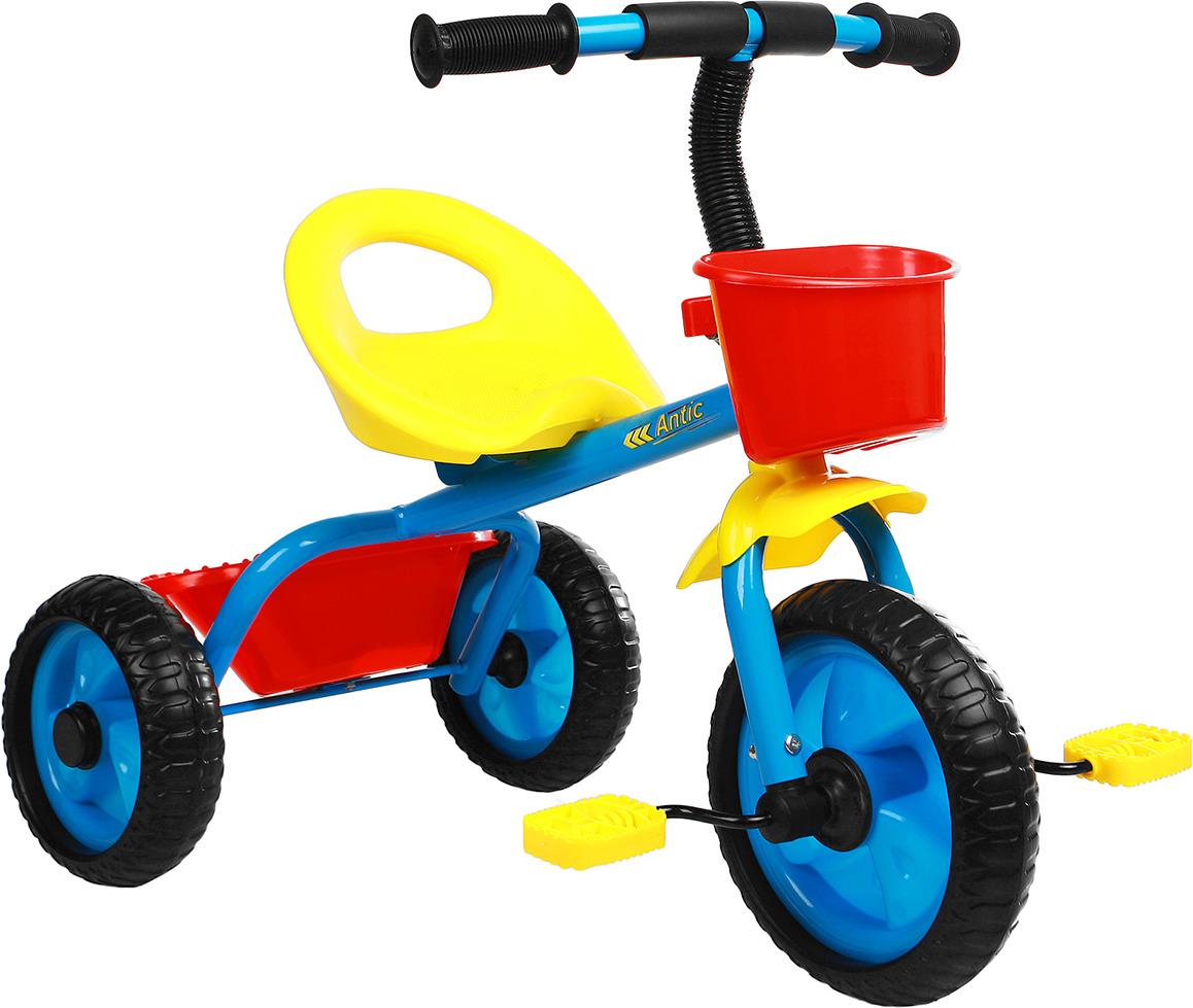 Велосипед трехколесный детский Micio Antic 2019, 3871496, синий, желтый, красный