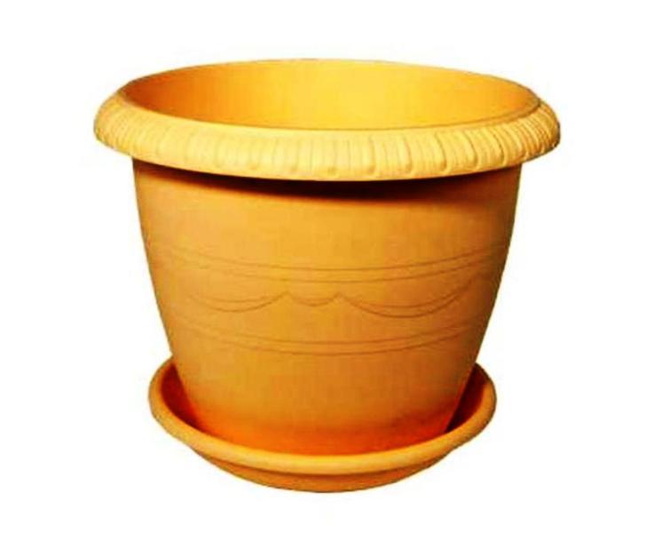 Горшок для цветов с поддоном пластиковый LE JARDIN (Ле Жардин), диаметр 30 см, объем 9,5 литров, высота 55 см, бежевый цвет, дренаж, кашпо, боковая система полива, 104-2, ТЕК.А.ТЕК, горшок le jardin d 25 5 5л терракот