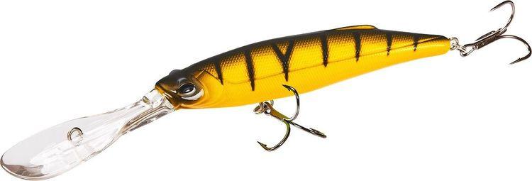 Воблер Lucky John Original Deep John, LJO0107F-014, оранжевый, черный, длина 7 см воблер плавающий lucky john basara цвет черный серебристый оранжевый 7 см 5 г