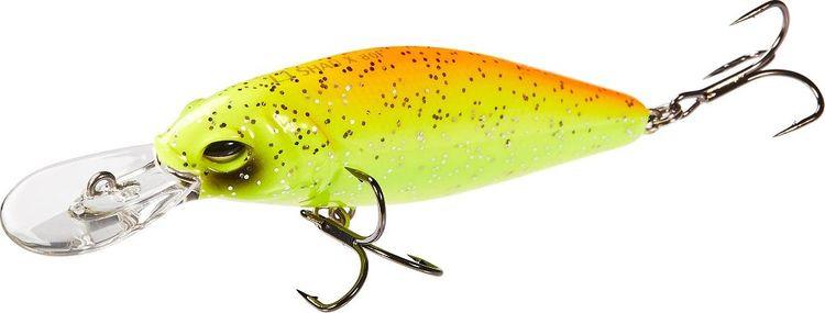 Воблер Lucky John Original Shad-X, LJO0308F-011, желтый, оранжевый, длина 8 см