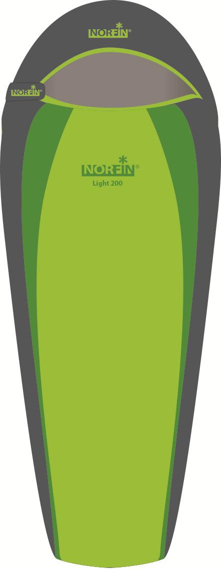 Спальный мешок-кокон Norfin Light 200 NF R, NF-30102, зеленый