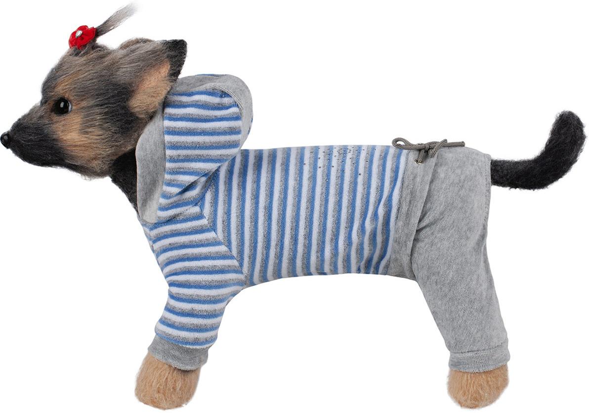 Комбинезон для собак Dogmoda Хоум, DM-190077-3, размер 3 (L) комбинезон для собак dogmoda тревел для девочки цвет серый розовый размер 3 l