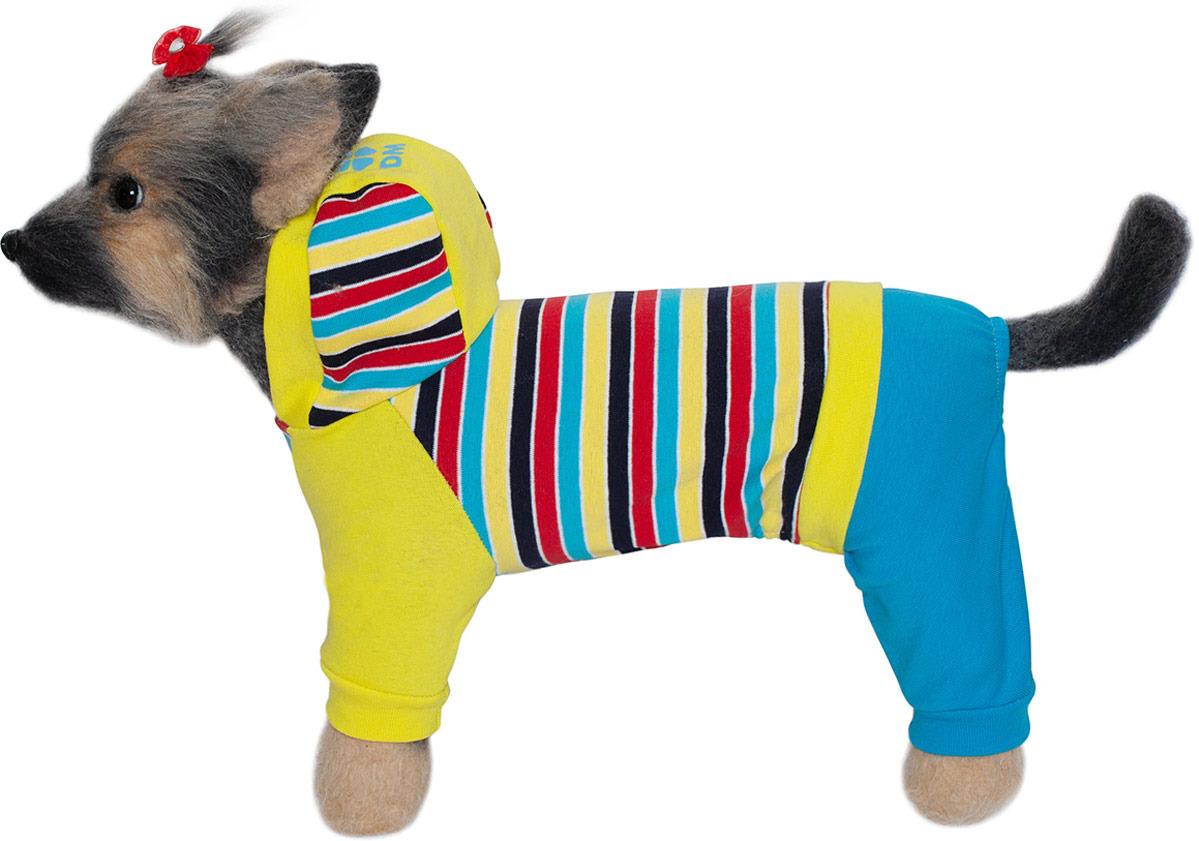 Комбинезон для собак Dogmoda Трикотаж, DM-190078-2, желтый, размер 2 (M)