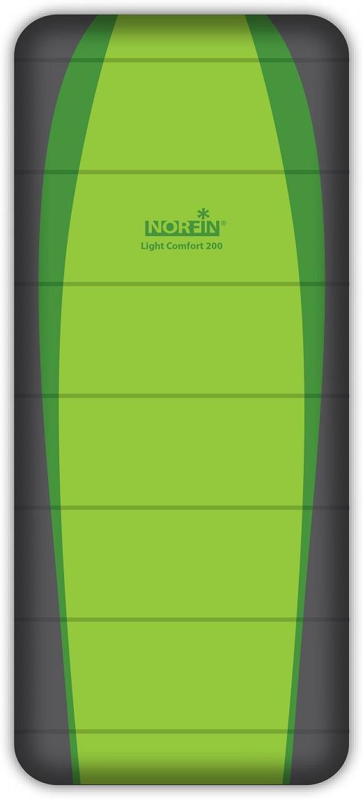 Спальный мешок-одеяло Norfin Light Comfort 200 NF R, NF-30202, зеленый