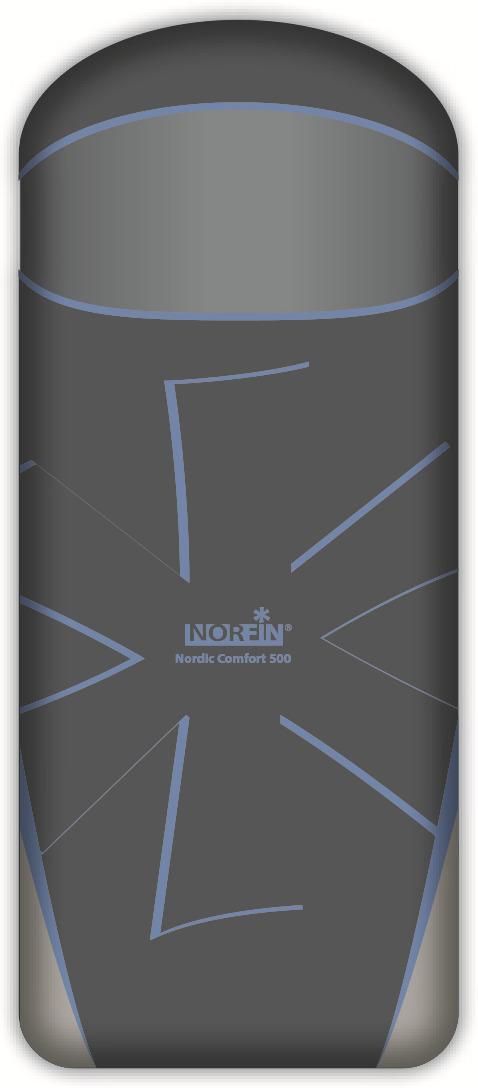 Спальный мешок-одеяло Norfin Nordic Comfort 500 NFL R, NFL-30218, синий цена