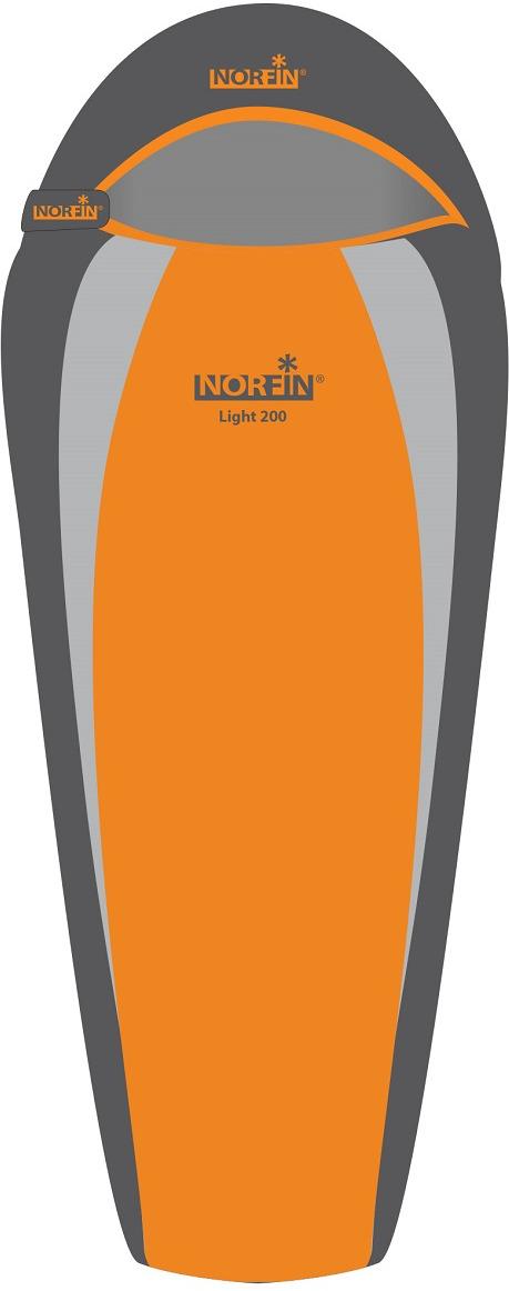 Спальный мешок-кокон Norfin Light 200 NS L, NS-30103, оранжевый