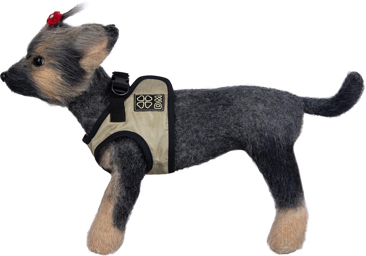 Шлейка-жилет для собак Dogmoda, DM-190101-4, бежевый, размер 4 (XL)DM-190101-4Шлейка-жилет это идеальная шлейка для маленьких собак, которая позволит вам контролировать поведение питомца во время прогулки, не стесняя его движений. Изделие выполнено таким образом, чтобы ткань нигде не давила животному, не натирала и не приносила болезненных ощущений. Шлейка - это альтернатива ошейнику. Правильно подобранная шлейка не стесняет движения питомца, не натирает кожу, поэтому животное чувствует себя в ней уверенно и комфортно. На шлейке имеются светоотражающие элементы, благодаря которым в темное время суток, во время прогулок, можно будет легко обнаружить своего питомца.Обхват шеи: 32 см; обхват груди: 44-45,5 см; длина шлейки: 19 см.