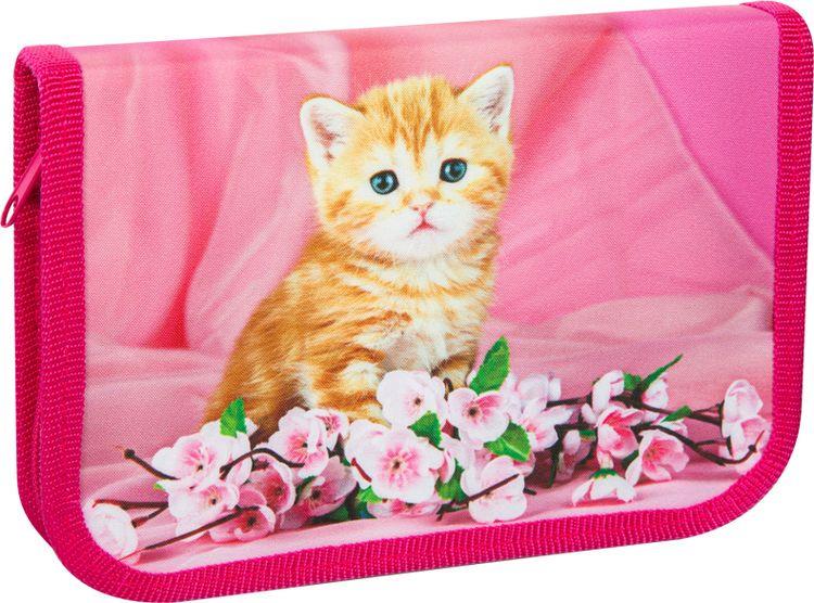 Пенал Спейс Artspace Домашние питомцы Рыжий котенок, ПК4-20_16305, 19 х 13 х 2 см