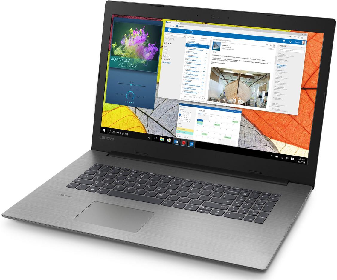 17.3 Ноутбук Lenovo IdeaPad 330-17AST 81D7001LRU, черный ноутбук lenovo ideapad 330 17ast 81d70034ru