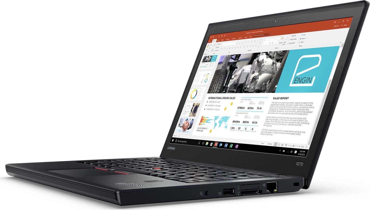 12.5 Ноутбук Lenovo ThinkPad X270 20K5S5L500, черный kingsener new battery for lenovo thinkpad x270 x260 x240 x240s x250 t450 t470p t450s t440 t440s k2450 w550s 45n1136 45n1738 68