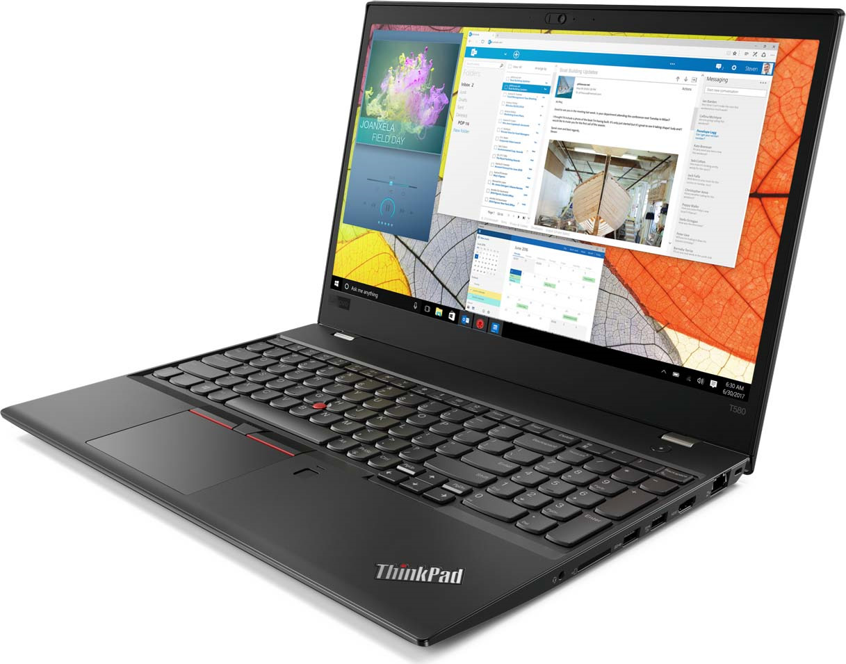 15 Ноутбук Lenovo ThinkPad T580 20L9001XRT, черный
