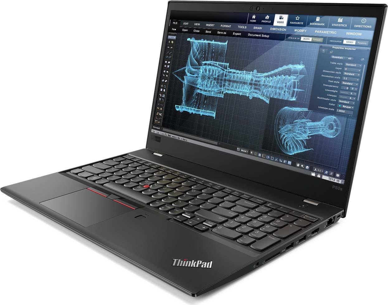 15.6 Ноутбук Lenovo ThinkPad P52s 20LB0008RT, черный lenovo thinkpad p52s 20lb000qrt черный