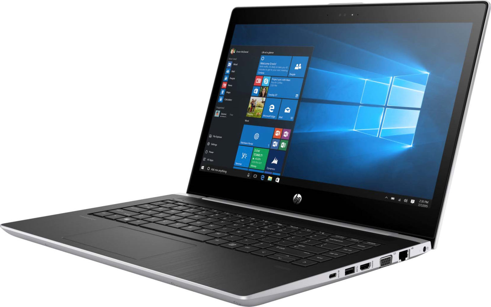 Ноутбук HP ProBook 440 G5 2SY21EA, серебристый msi original zh77a g43 motherboard ddr3 lga 1155 for i3 i5 i7 cpu 32gb usb3 0 sata3 h77 motherboard