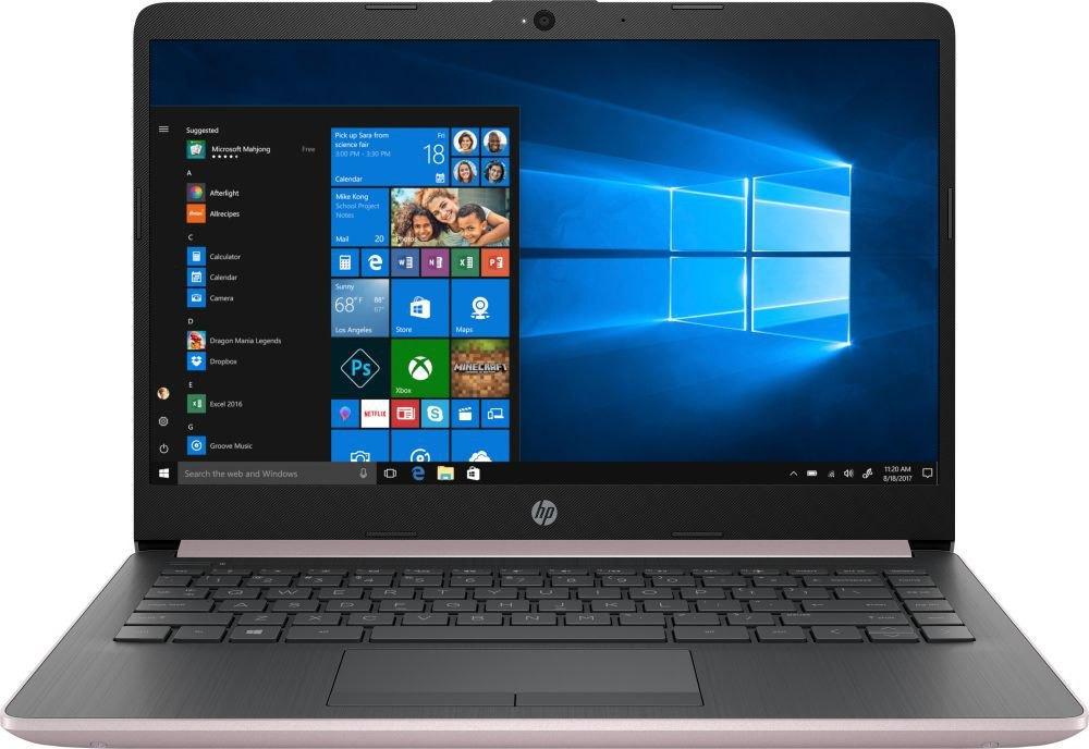 14 Ноутбук HP 14-cf0009ur 4JU58EA, золотой ноутбук цена качество