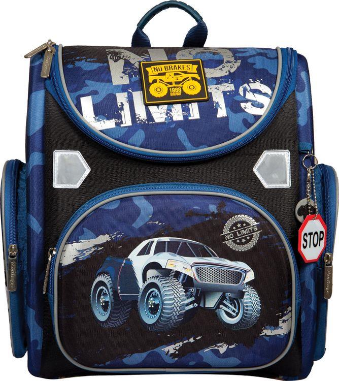 Школьный ранец Berlingo Ultra Compact No Limits, с наполнением, RU038058, синий цена и фото