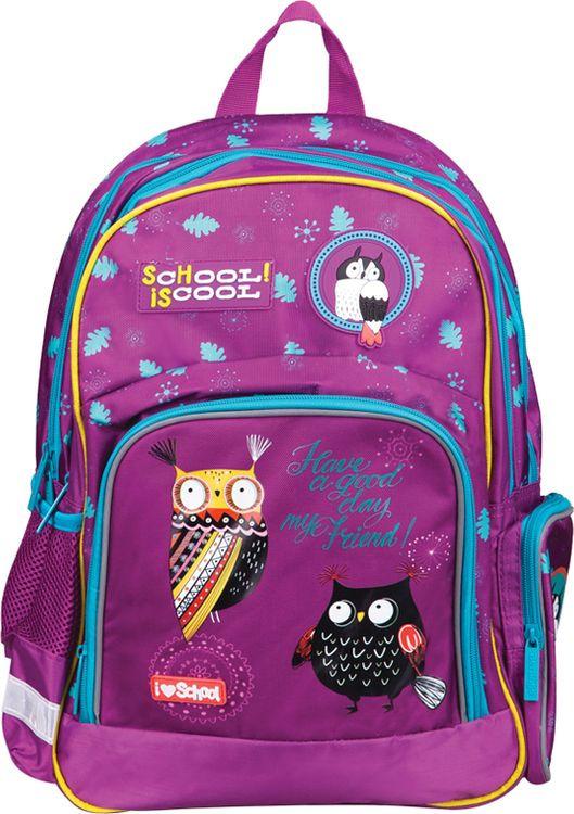 Рюкзак детский Berlingo Light Nice Owls, RU038066, бирюзовый цена и фото
