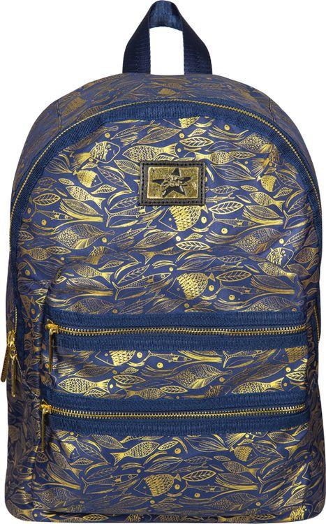 Рюкзак детский Berlingo Fashion Golden Fish, RU038060, синий стильные молодежные рюкзаки купить