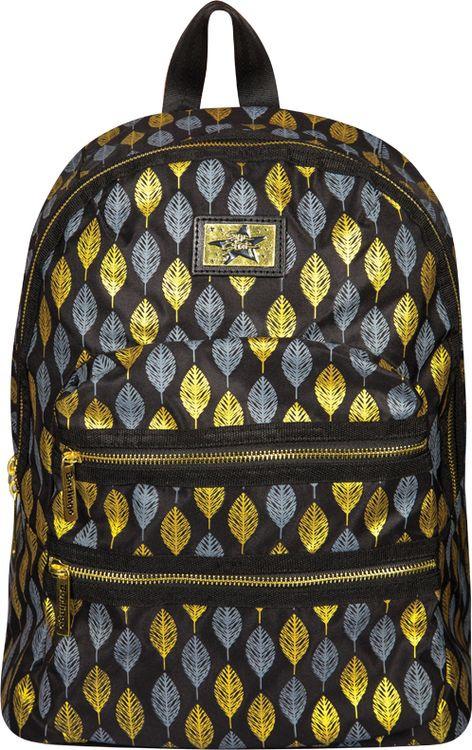Рюкзак детский Berlingo Fashion Golden Leaves, RU038061, черный стильные молодежные рюкзаки купить