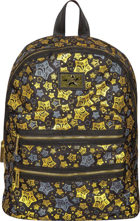 Рюкзак детский Berlingo Fashion Golden Stars, RU038062, черный стильные молодежные рюкзаки купить