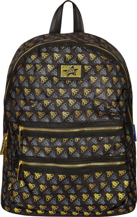 Рюкзак детский Berlingo Fashion Golden Bees, RU038063, черный стильные молодежные рюкзаки купить
