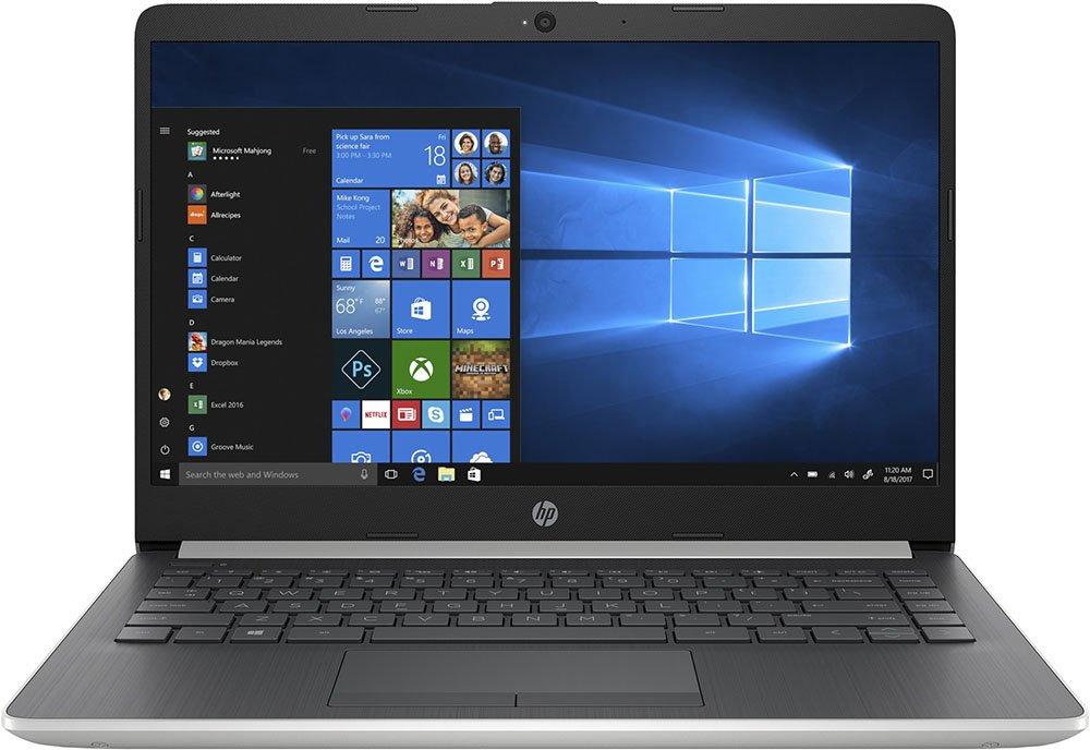 14 Ноутбук HP 14-cf0017ur 4KD46EA, серебристый