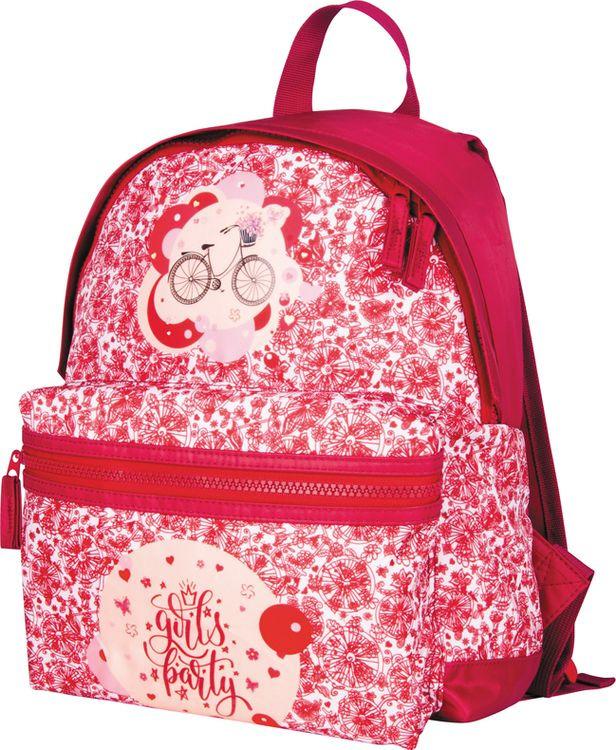 Рюкзак детский Berlingo Nice Girls Party, RU038096, красный цена и фото
