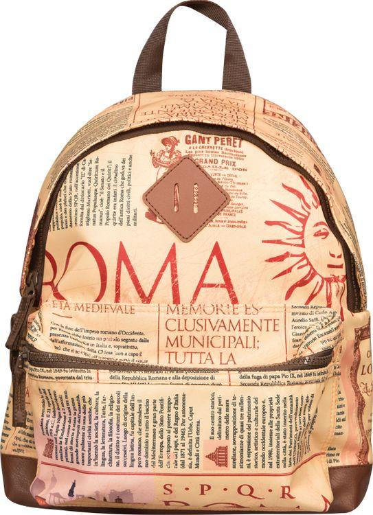 Рюкзак детский Berlingo Nice Newspaper Style, RU038098, коричневый