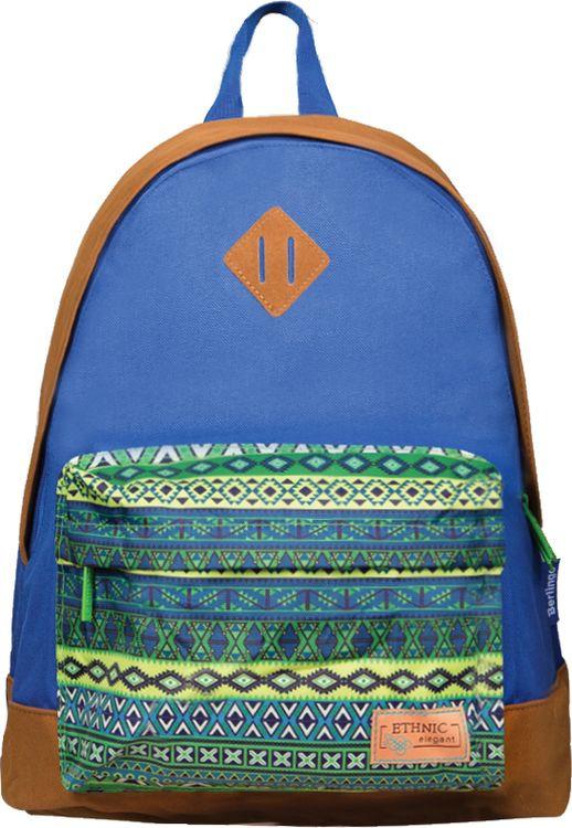 Рюкзак детский Berlingo Nice Ethnic, RU038105, синий цена и фото