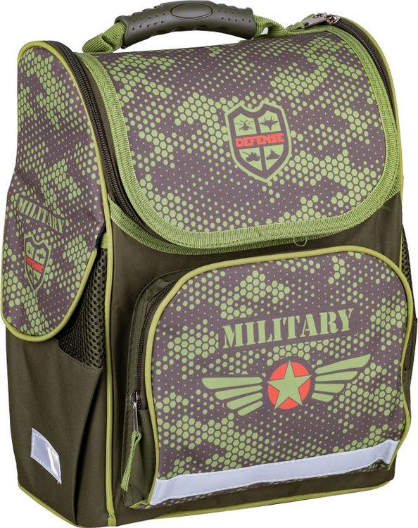 Школьный ранец Спейс ArtSpace Камуфляж, Uni_17612, зеленый