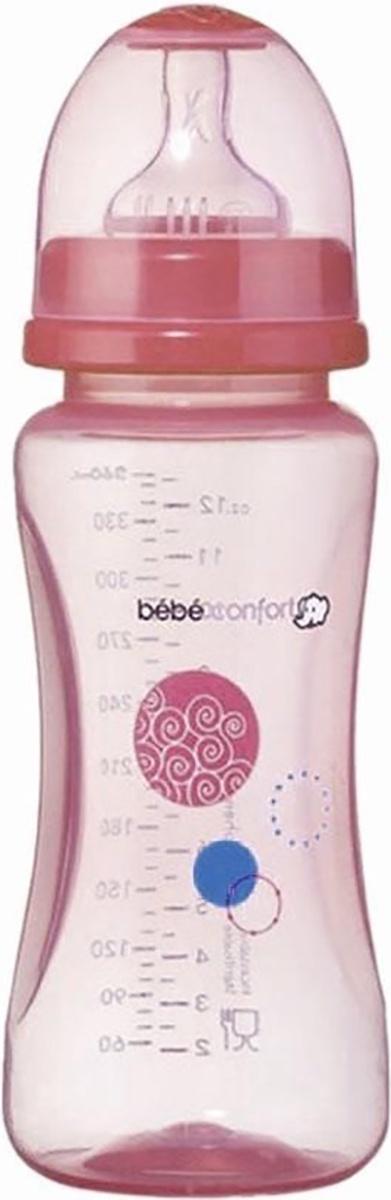 Бутылочка для кормления Bebe Confort Maternity PP, сил. соска для молока и воды, 270 мл, 0-12 мес розовый