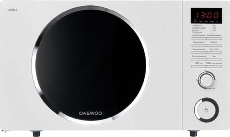 Микроволновая печь Daewoo, KQG-81HRW, белый микроволновая печь bbk 23mws 927m w 900 вт белый
