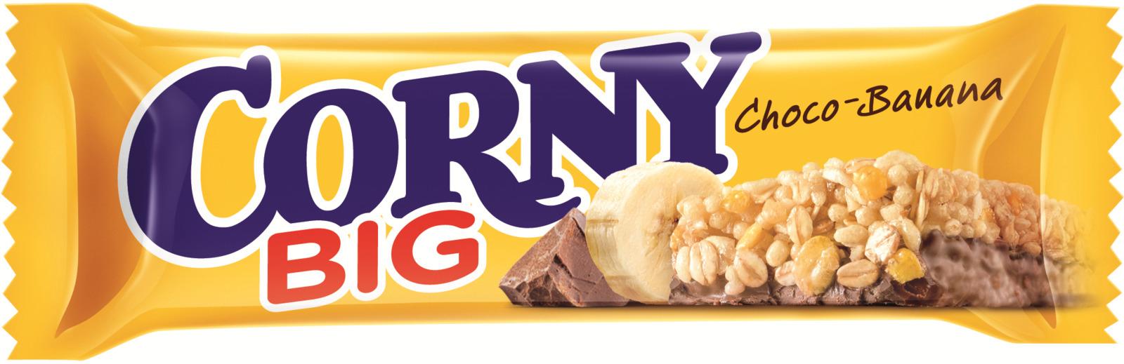 Corny Chocolate-Banana батончик злаковый с бананом и молочным шоколадом, 50 г corny milk cocoa батончик злаковый c молоком и какао 30 г