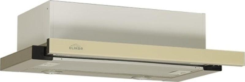 """Вытяжка встраиваемая Elikor """"Интегра"""" Glass 50Н-400-В2Д, нержавеющая сталь/стекло бежевое"""