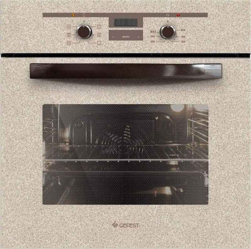 Духовой шкаф Электрический Gefest ЭДВ ДА 622-02 К48S бежевый/рисунок гриль электрический тефаль