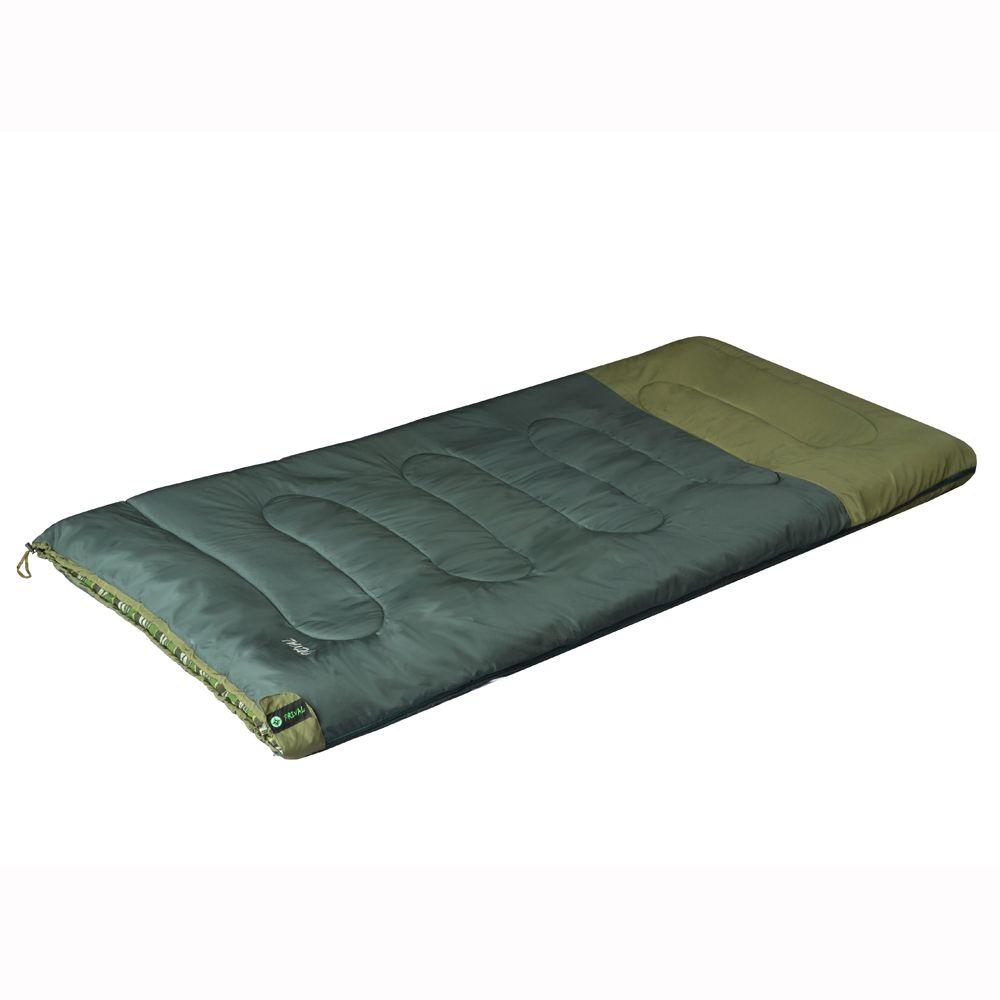 Спальный мешок Prival Походный XL, хаки, правосторонняя молния, 200х95 см