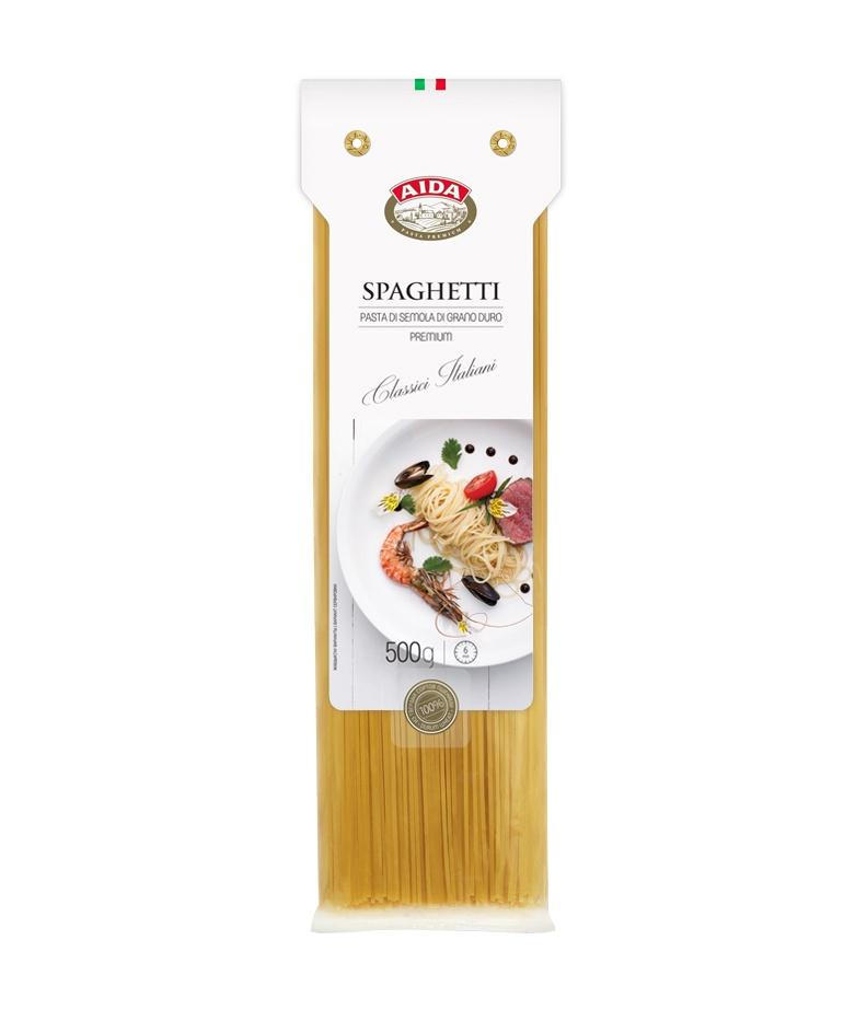 Макаронные изделия AIDA Spaghetti/Спагетти, 500 г spaghetti straps scalloped bikini set