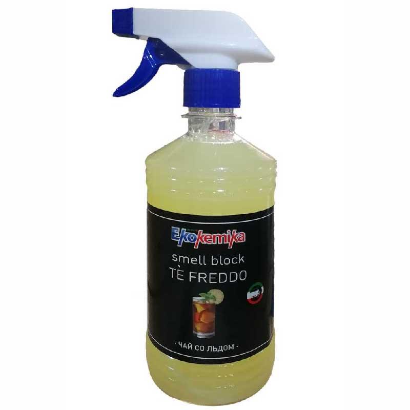 Освежитель воздуха Ekokemika Smell Block, жидкий с триггером, чай со льдом, 0.5 л