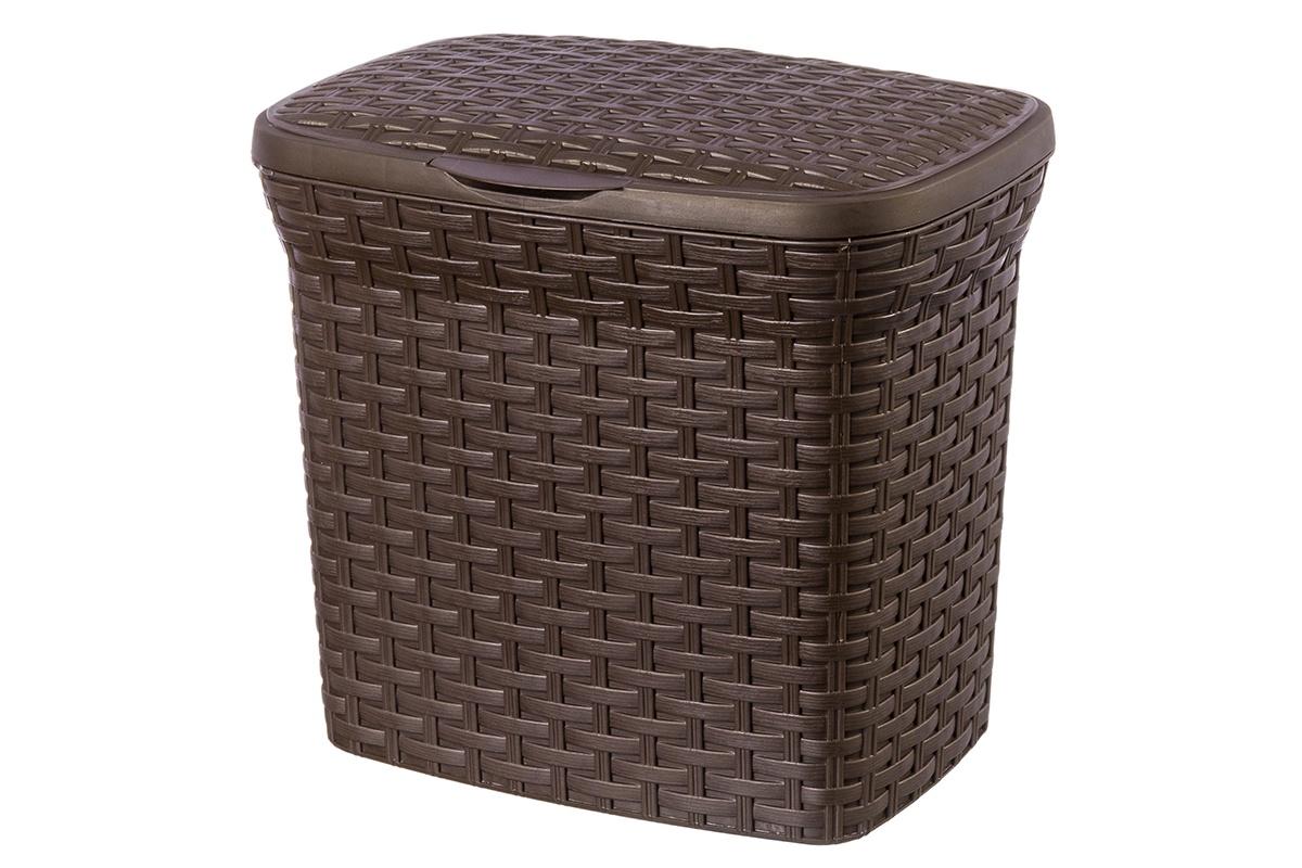 Контейнер для хранения вещей Violet Ротанг, коричневый цена