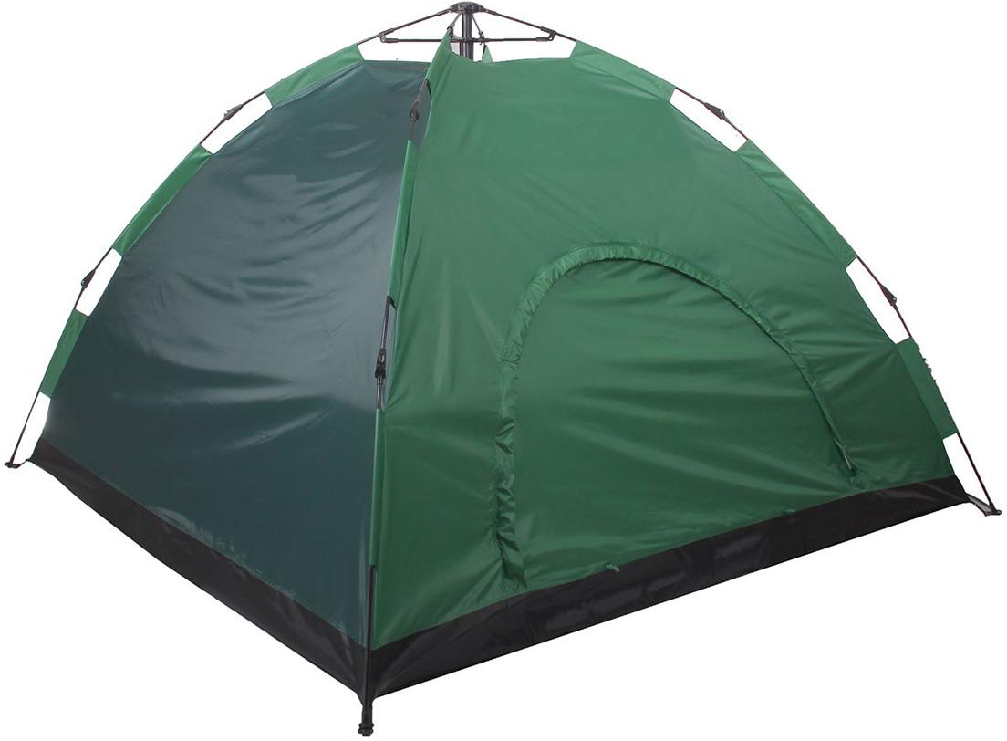 Палатка-автомат Maclay, 1734827, 220 х 220 х 150 см, зеленый1734827Палатка позволит укрыться от солнца в жаркий день и защитит от надоедливых насекомых. Внутри палатки вы сможете расположиться для ночёвки в тёплую погоду. С одной стороны сделан вход с москитной сеткой, закрывающийся на молнию. Благодаря ей внутрь будет поступать свежий воздух. Палатка-автомат раскладывается меньше чем за минуту. С простым механизмом справится даже ребёнок. Для правильного хранения и транспортировки используйте чехол, который входит в комплект.