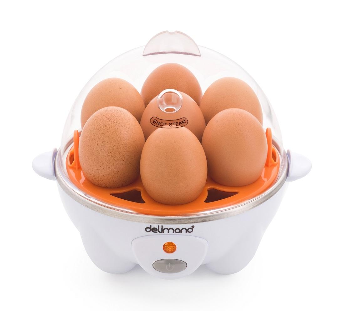 Яйцеварка Delimano Utile Egg Master Pro, белый, оранжевый