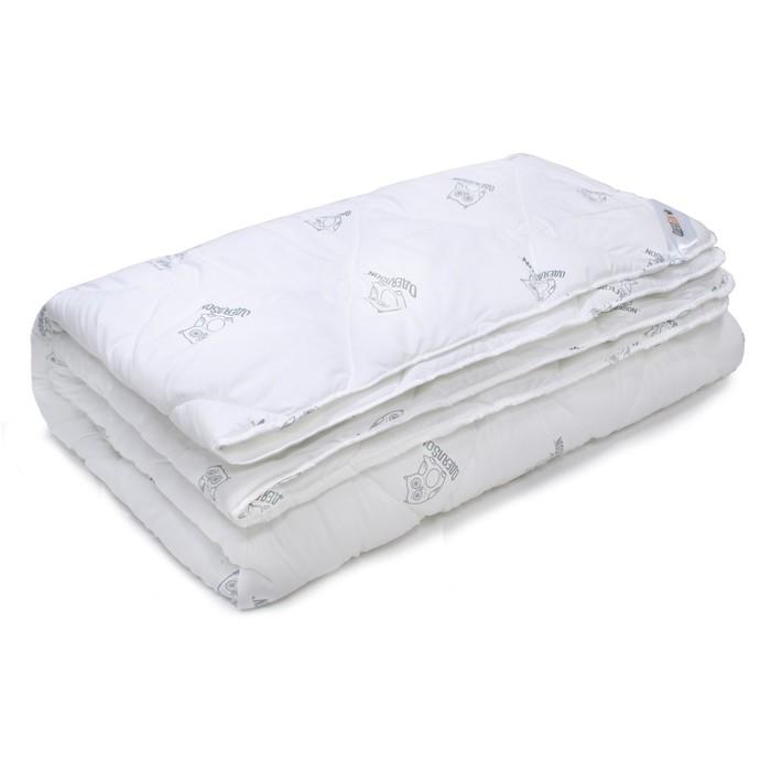 Одеяло ОдеялSon стеганое Сова 220*200, белый mercury постельные принадлежности набор 4 штуки простыня с набивной чехол на одеяло 100