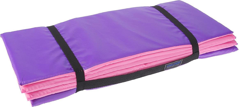 Коврик туристический, складной, 3302504, фиолетовый, розовый, 145 х 51 см