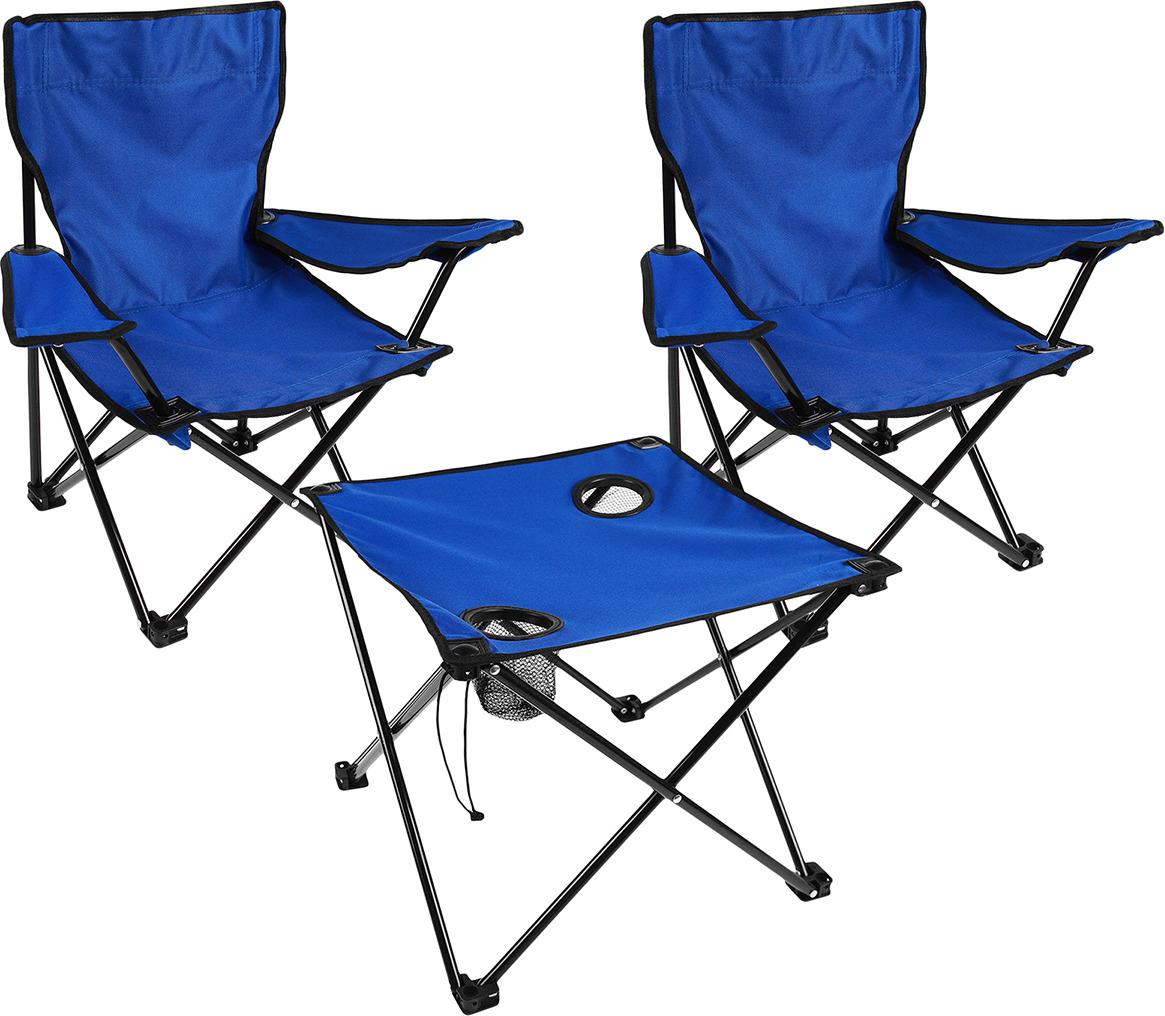 Набор мебели туристической Два туриста, стол + 2 кресла, 3940080, синий компьютерные кресла и стулья