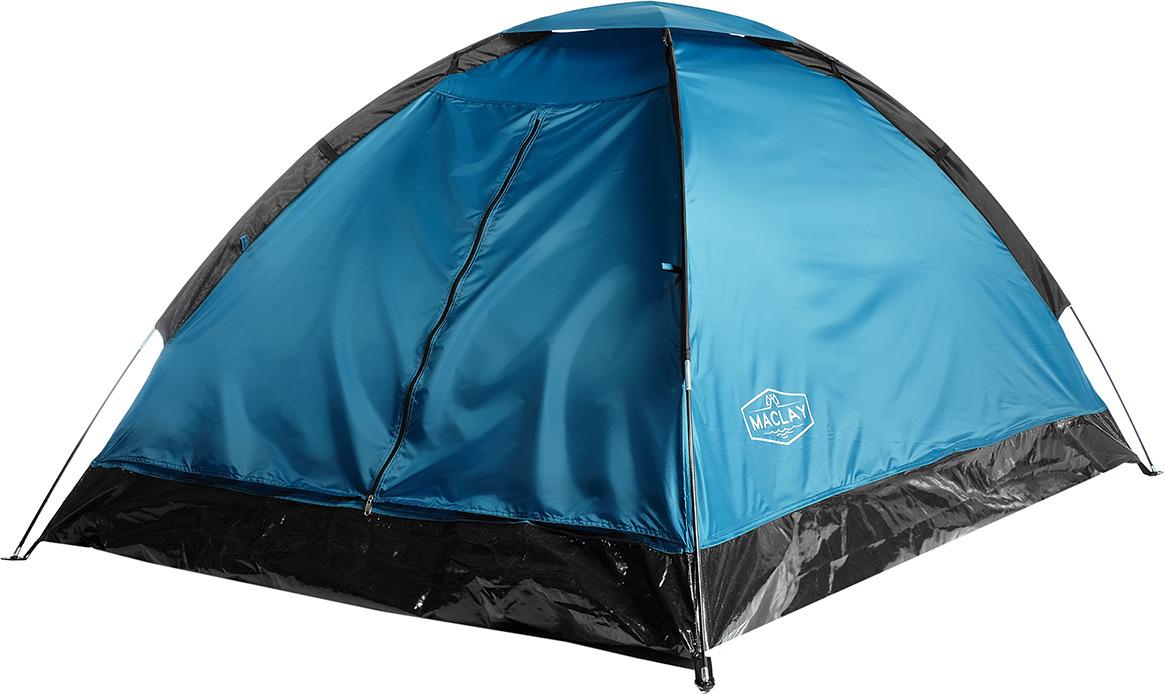 Палатка Maclay Sande, 2-х местная, 3984287, 205 х 150 х 105 см, синий цена