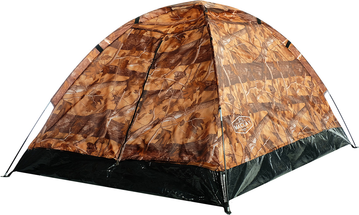 Палатка Maclay Sande II, 2-х местная, 3984289, 205 х 150 х 105 см, лес цена