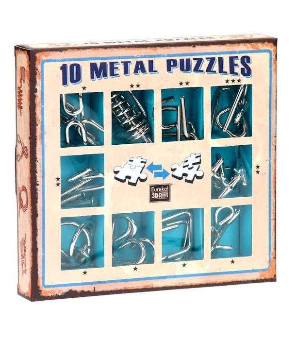 Головоломка Eureka (Бельгия) Набор из 10 металлических головоломок (синий) / 10 Metal Puzzles blue set кен рассел филип картер 160 головоломок в картинках три уровня сложности