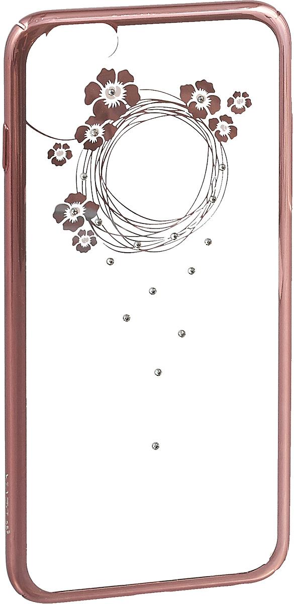 Чехол для сотового телефона Devia Garland Soft case для Apple iPhone 6S plus/6PLUS, розовый европейский и американский улица моды телефона любителей случае apple 6s eiffel телефон iphone6 6plus глаз тигра