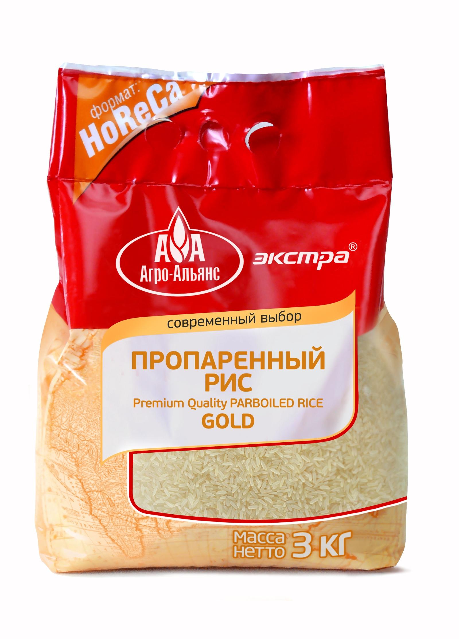 Рис Агро-Альянс Пропаренный Gold HoReCa, 3000 г агро альянс каскад рис пропаренный золотой 900 г